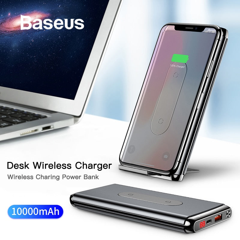 Baseus 10000mAh QI Wireless Charger Power Bank
