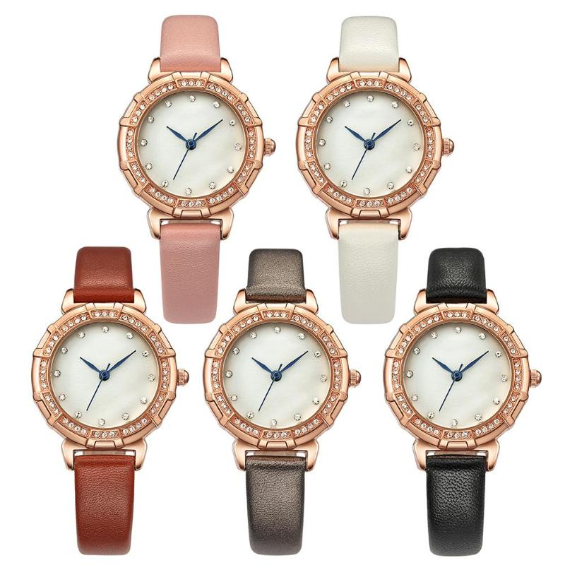 Diamond Leather Band Sports Watches