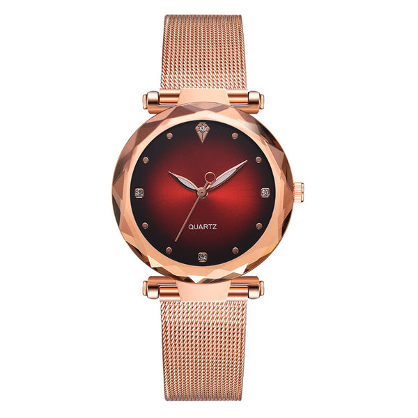 Luxury Metal Belt Dress Watches