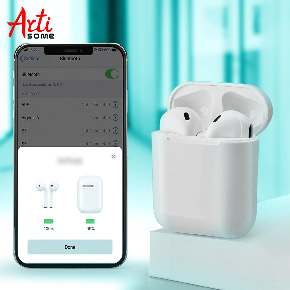 Pop-up i20 2019 TWS Wireless Bluetooth 5.0 Mini Earphones 1