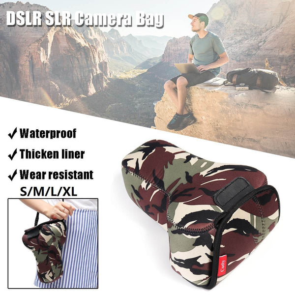 LEORY Portable Waterproof DSLR SLR  Soft Camera Bag Shoulder Case