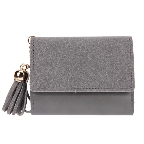 Fashion Women Mini Tassel Short Wallet