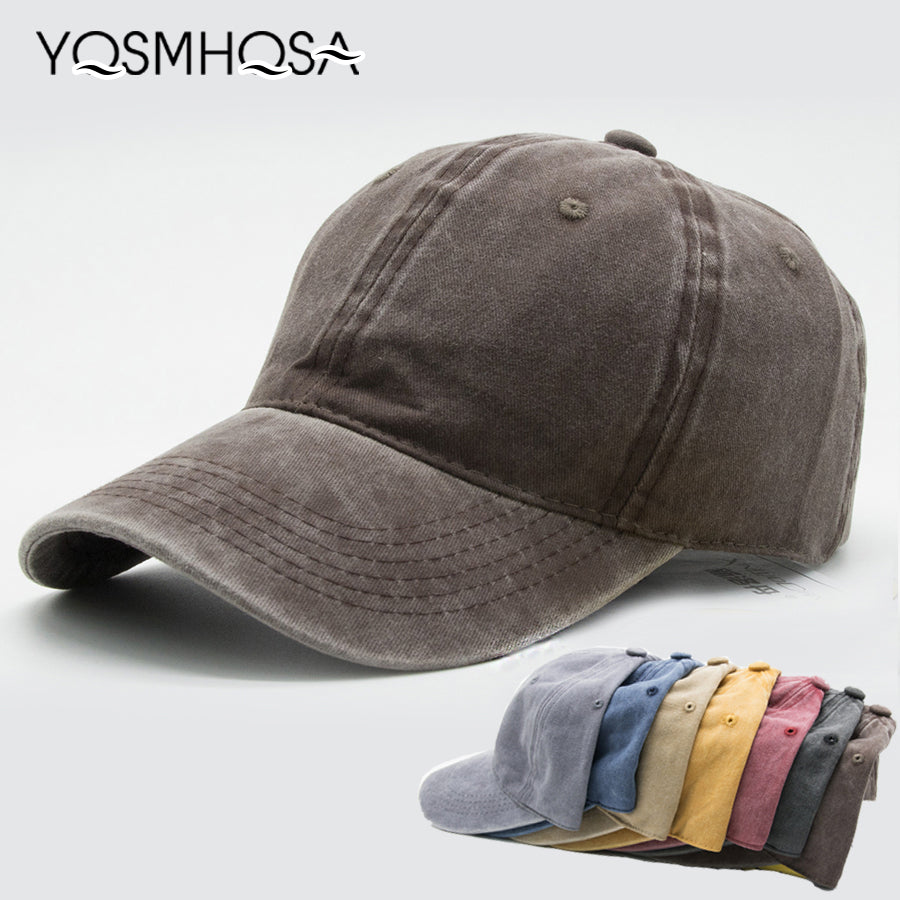 Casual Men Cotton Solid Baseball Cap