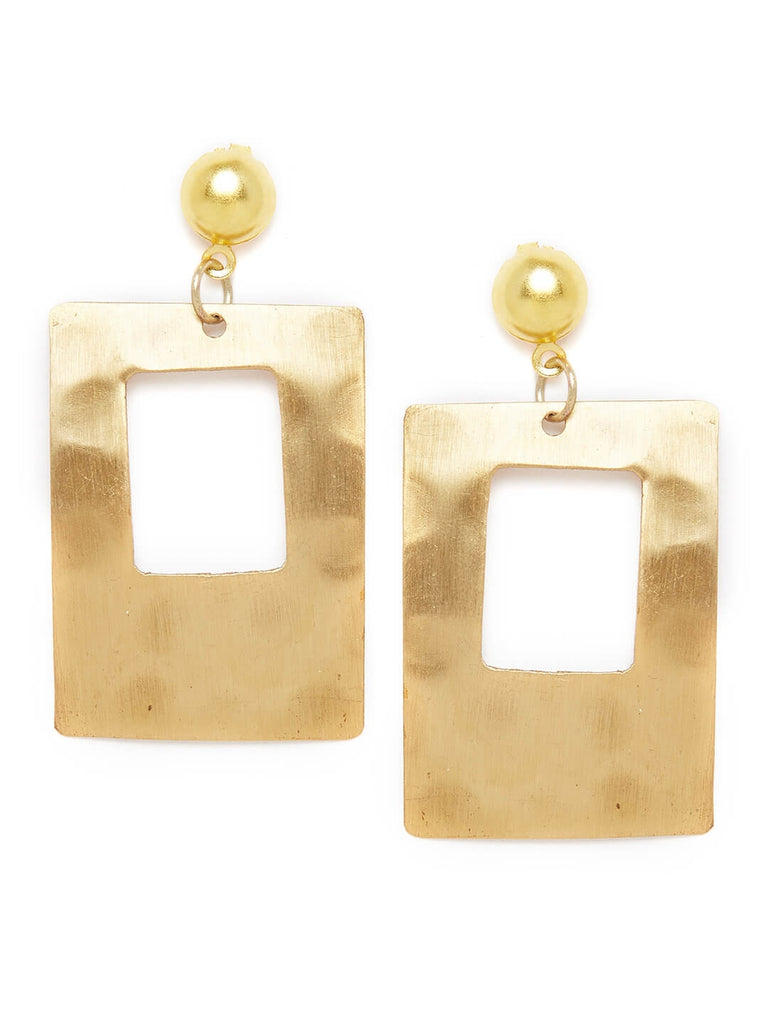Rectangular Metal Earrings