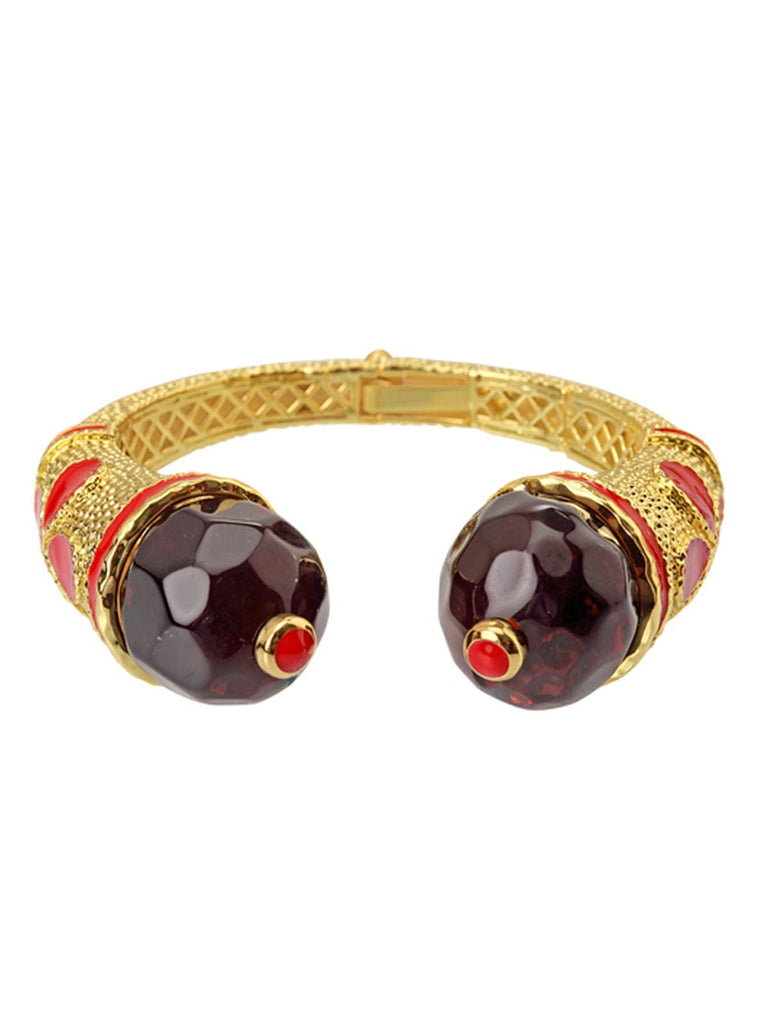 Red And Browncathedral Bangle