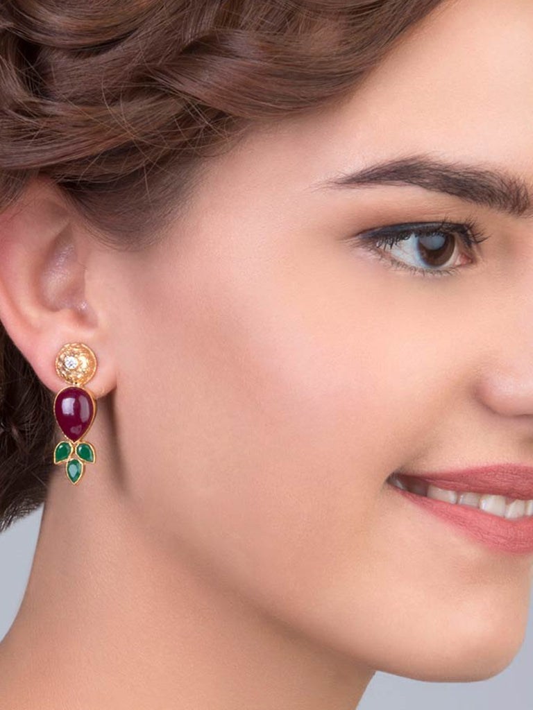 Red And Green Rawa Earrings