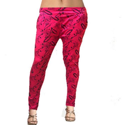 Seasons Dark Pink Exotic Print Cotton Jegging