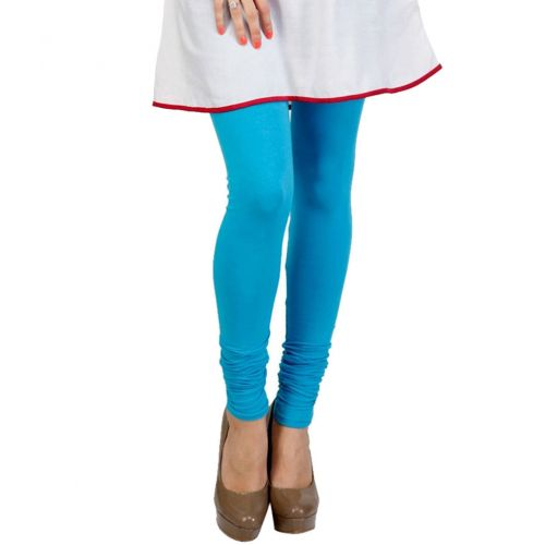 Turquoise Blue Stretchable Hosiery Leggings