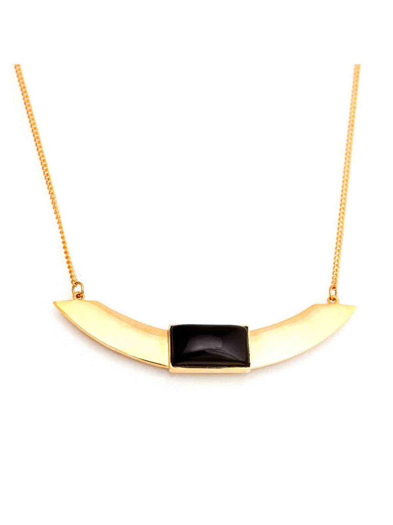 Sleek Gold Pendant