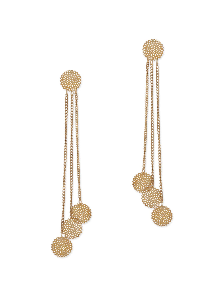 Sona Filigree Long Earrings