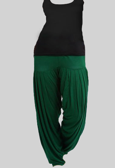 Women's Black Tank Top With Green Patiala Salwar