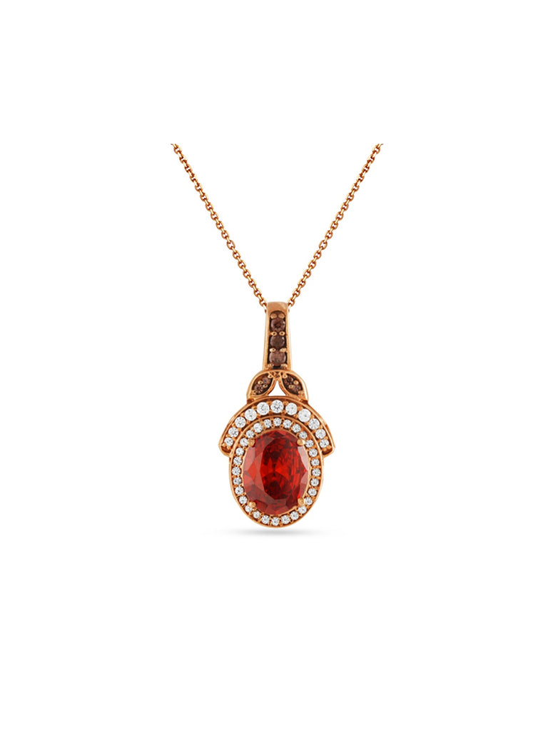 The Red Pendant With The Garnet