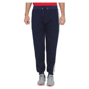 Chase Blue Cotton Blend Joggers