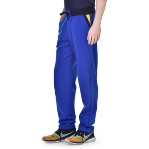 Collection Blue Cotton Blend Trackpant