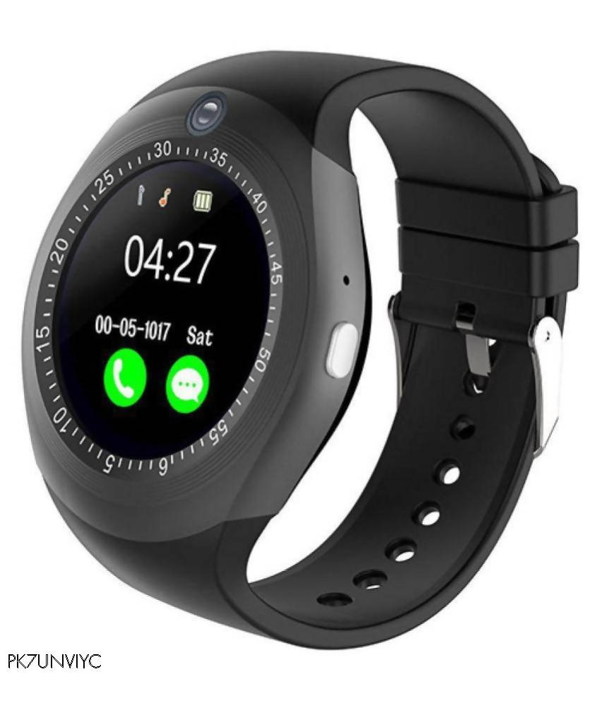 Black smart watch