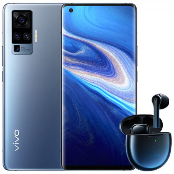 vivo X50 Pro 5G 256GB / 8GB RAM مع vivo Light Blue مع Vivo TWS Earphone Neo