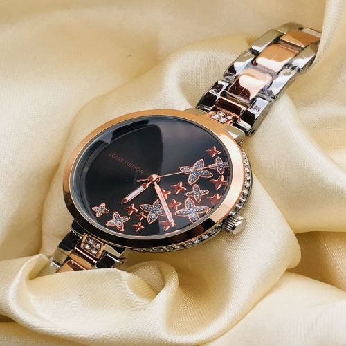 Louis Vuitton Women Rose Gold-Toned Dial Watch