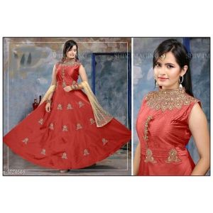 Stylish Designer Taffeta Silk Women Gowns