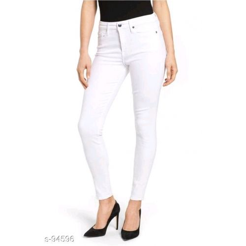 Stylish Women's White Hot Denim Jeans