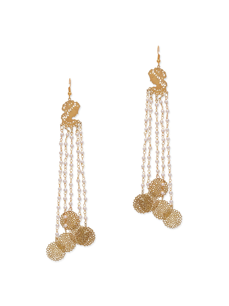 Zoya Filigree Long Earrings