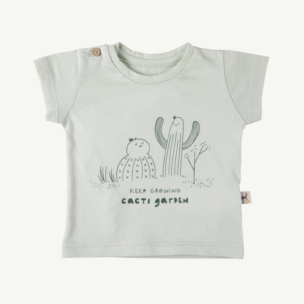 Camiseta keep growing' green lilly