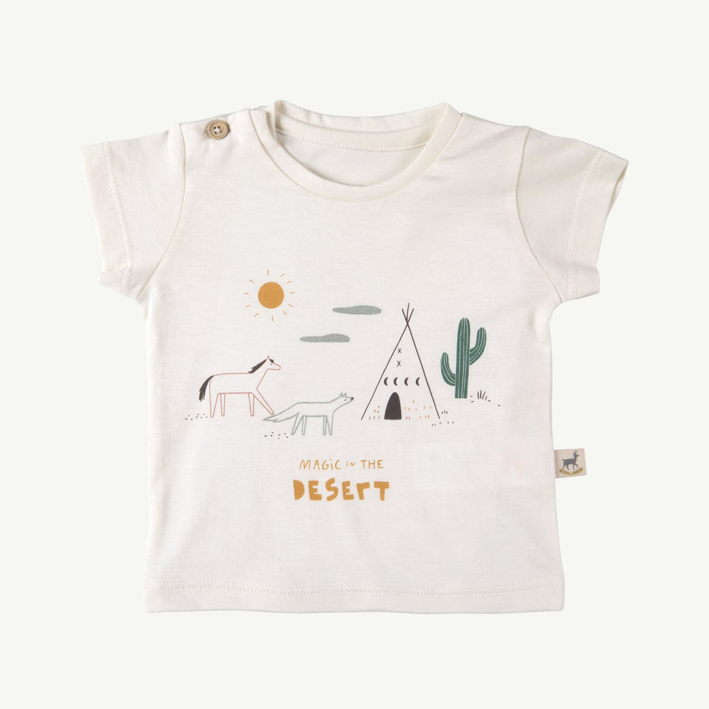 Camiseta 'magic in the desert' ivory