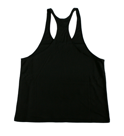 Mens Black Muscle Vest