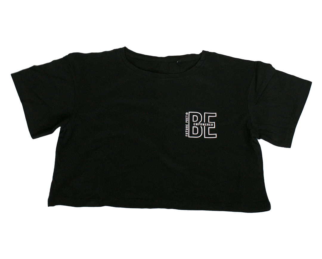 Be Empowered - Womens Black  Crop top