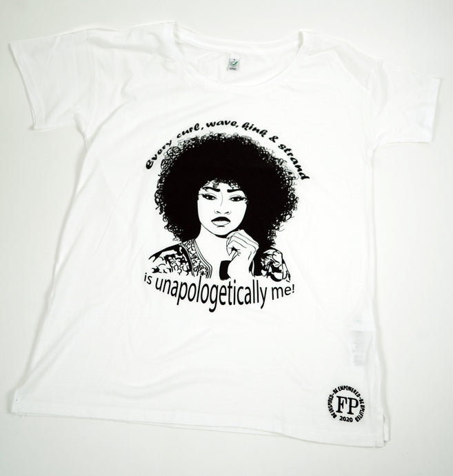 Unapologetic Curly Hair - Oversized Womens T-shirt