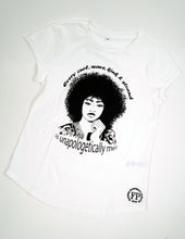 Load image into Gallery viewer, Unapologetic Curly Hair - Rolled Sleeve Womens T-shirt