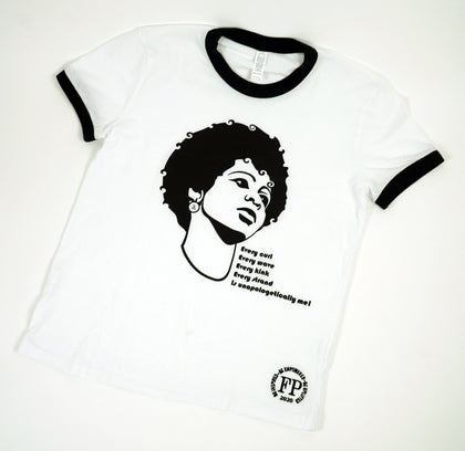 Unapologetic Afro - Classic Ringer Womens T-shirt