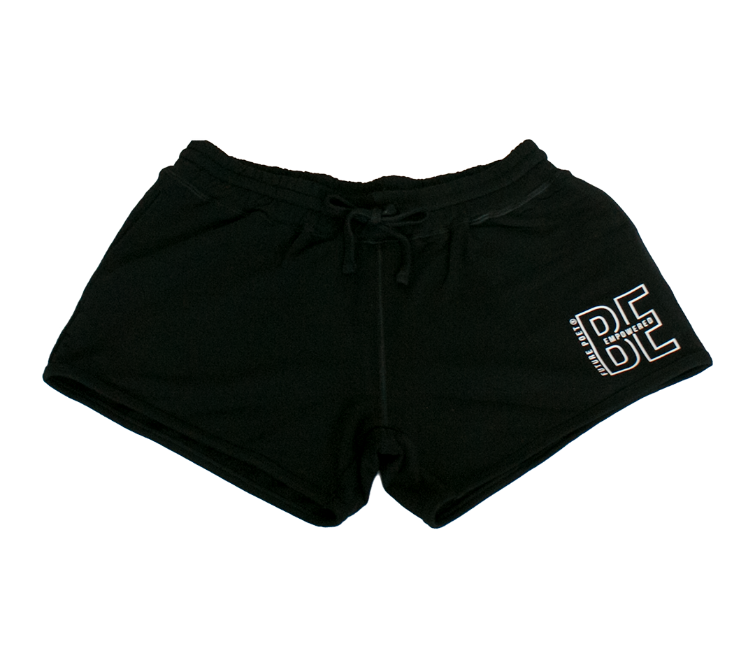 Be Empowered - Womens Black Jog Shorts