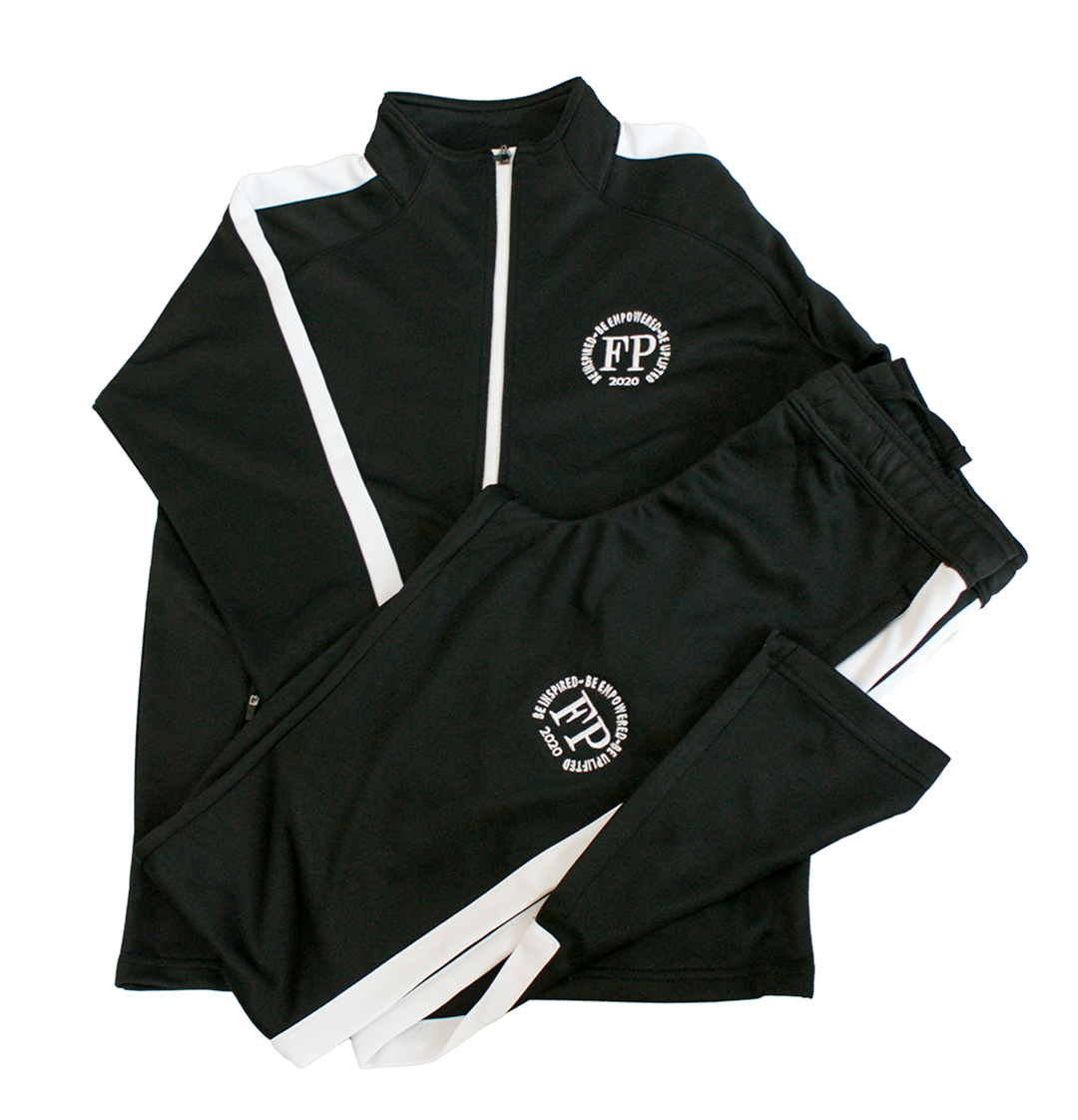 Junior Unisex - Black and White Tracksuit