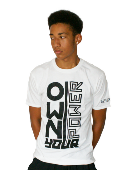 Power - Mens White T-Shirt