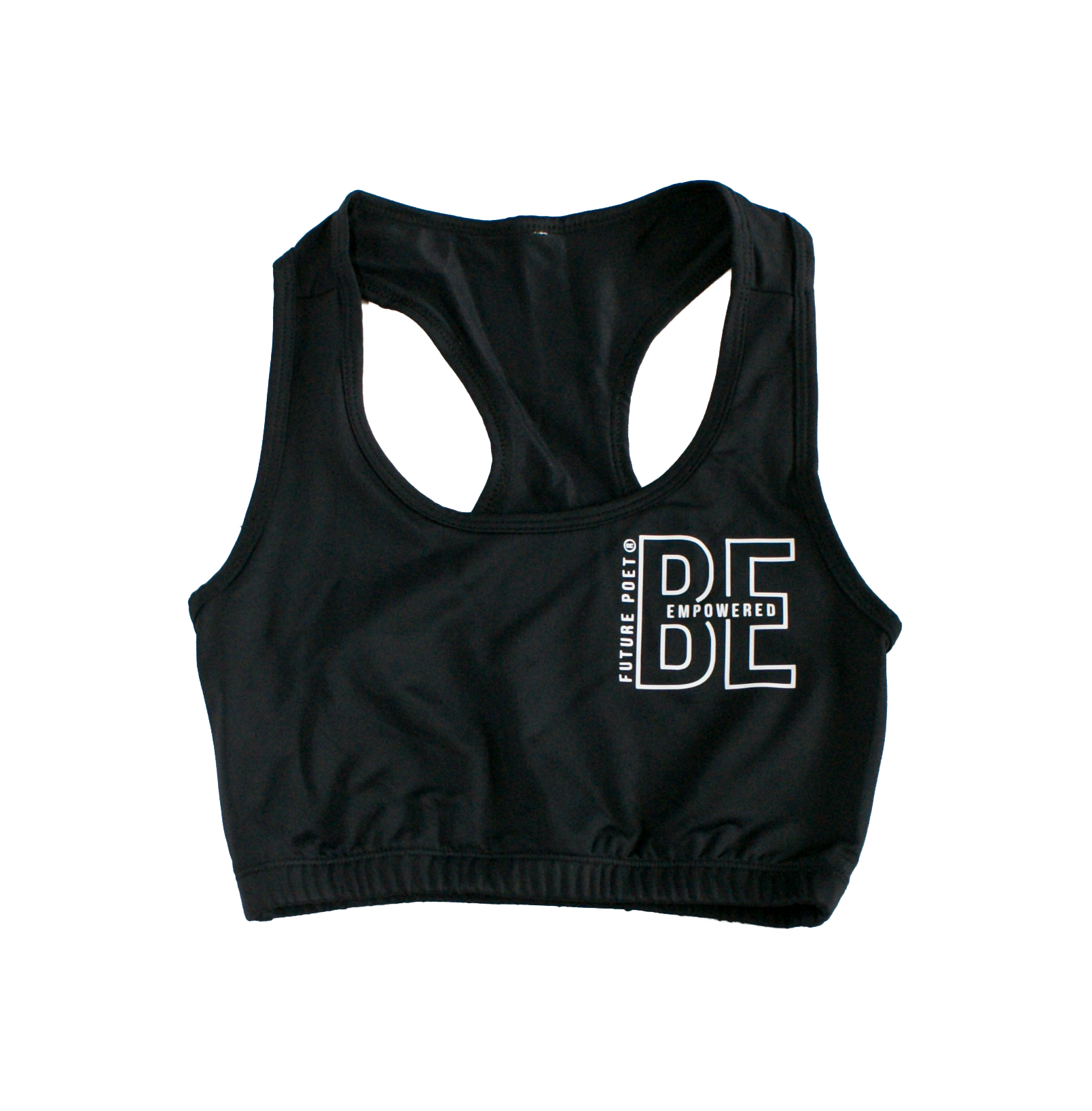 Be Empowered - Womens Black Bra Crop Top