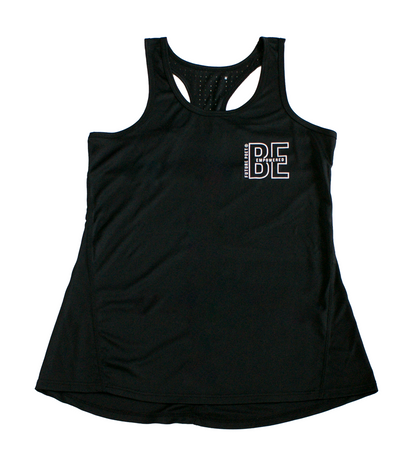 Be Empowered - Womens Black Laser Cut Vest