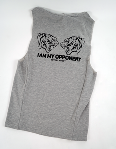 Opponent - Sleeveless Grey Muscle Hoodie