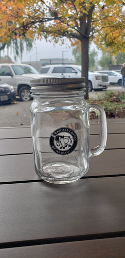 Santa Rosa Bad Ass Mason Jar