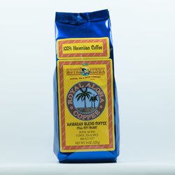 Royal Aloha Coffee, Hawaiian Blend, Full City Roast