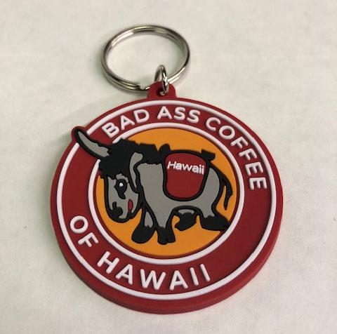 Bad Ass Round Keychain