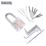 Locking Picking Practice Set With Transparent Lock