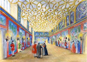 Art Print of the Great Watching Chamber at Hampton Court Palace.
