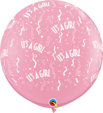 It's a Girl Round Latex Balloon 90cm