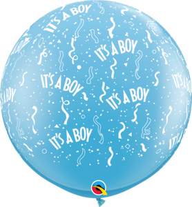It's a Boy Round Latex Balloon 90cm