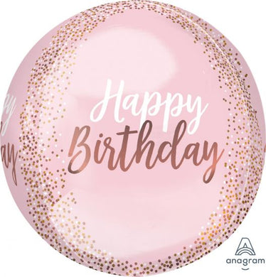 Anagram Round Blush Birthday Balloon
