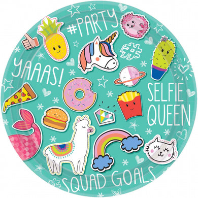 Selfie Celebration 23cm Paper Plates