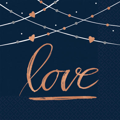 Love Navy Bride Napkins