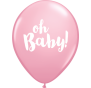Oh Baby Pink Latex Balloons 28cm Pk6