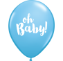 Oh Baby Blue Latex Balloons 28cm Pk6