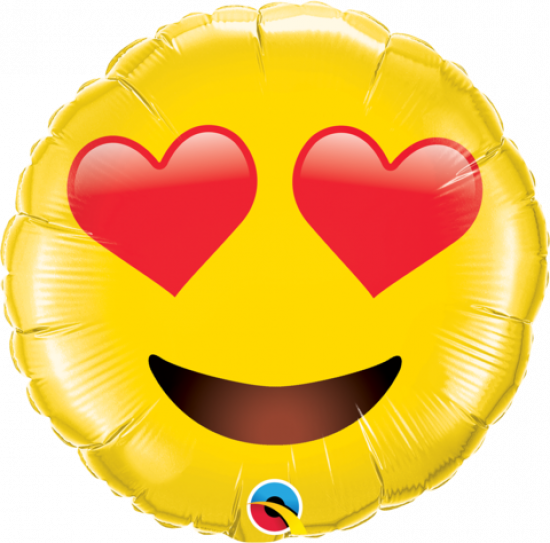 Emoji Smiley Face with Heart Eyes Foil 71cm
